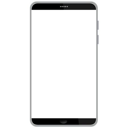 ilustración de la más reciente teléfono inteligente aislados en fondo blanco