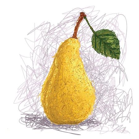 poires: illustration Gros plan sur un fruit frais de poire