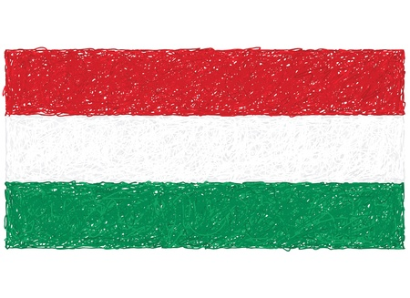 hand drawn illustration of flag of Hungary Vector