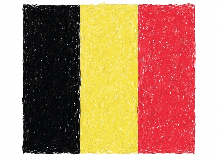belgium flag: hand drawn illustration of flag of Belgium