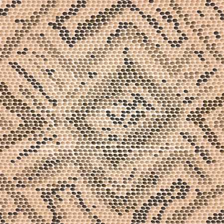 closeup illustration of a patterned snake skin  Vector