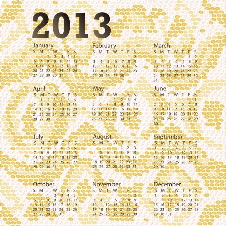 snake calendar: closeup illustration of a patterned albino snake skin of year 2013 calendar
