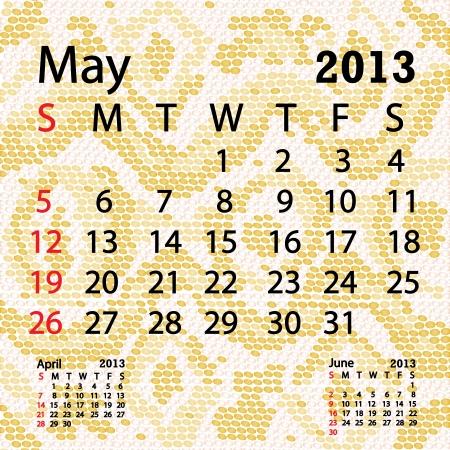 snake calendar: closeup illustration of a patterned albino snake skin background for may 2013 calendar