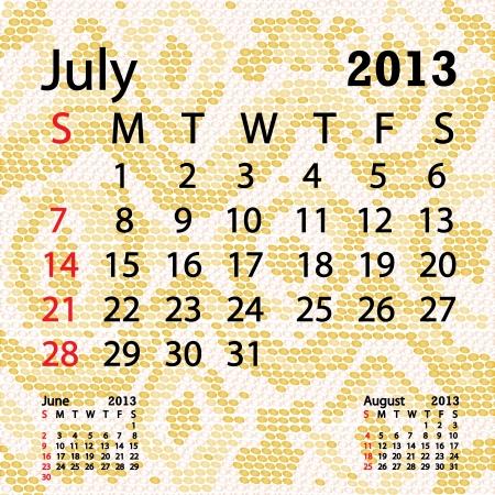 snake calendar: closeup illustration of a patterned albino snake skin background for july 2013 calendar