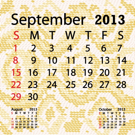 closeup illustration of a patterned albino snake skin background for september 2013 calendar  Vector