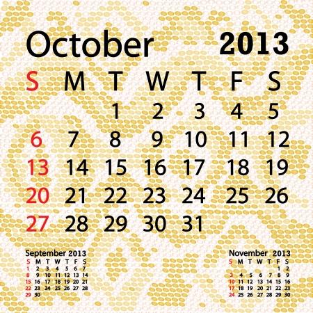 snake calendar: closeup illustration of a patterned albino snake skin background for october 2013 calendar