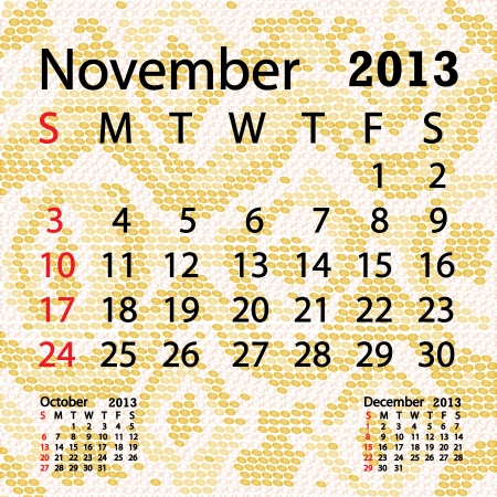 snake calendar: closeup illustration of a patterned albino snake skin background for november 2013 calendar