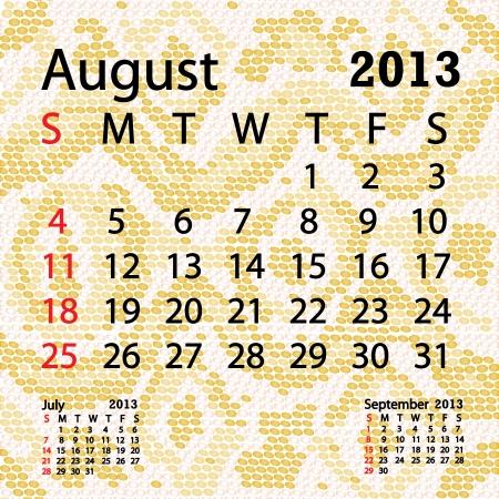 snake calendar: closeup illustration of a patterned albino snake skin background for august 2013 calendar.
