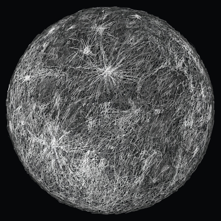 closeup illustration of huge full moon   Vector