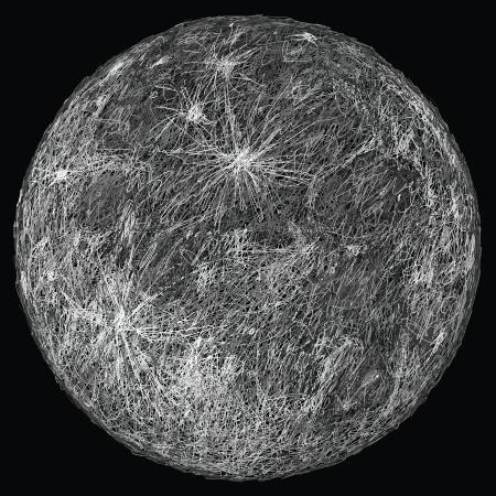 celestial body: closeup illustration of huge full moon   Illustration