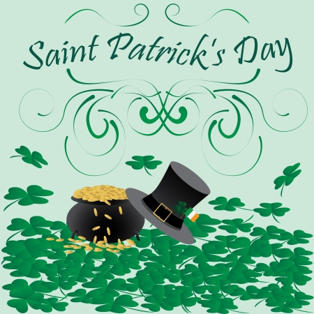 illustration of saint patricks day religious symbols   Vector