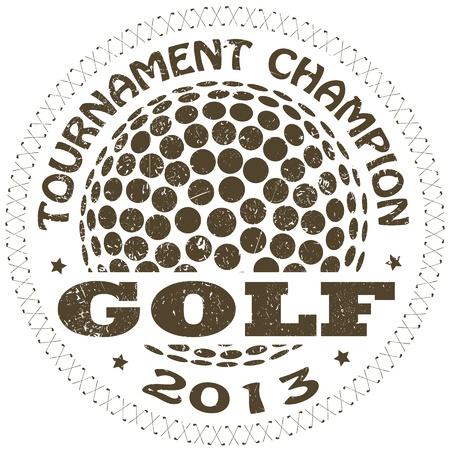 pelota de golf: ilustraci�n de la etiqueta de golf vendimia Vectores