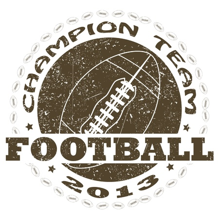 illustration of vintage american football label