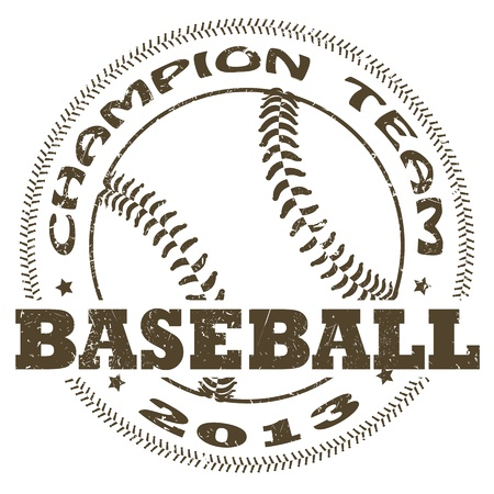 illustration of vintage baseball label Vector