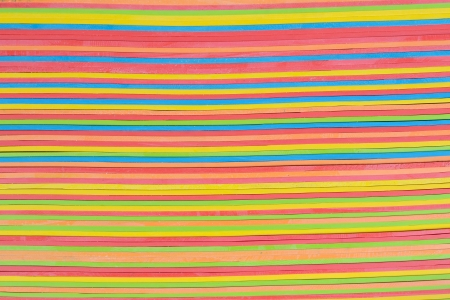 rubberband: vibrant rubber strips arranged in horizontal pattern