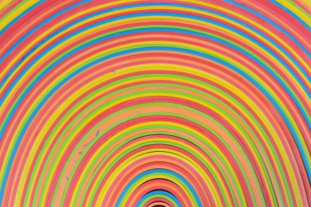 vibrant rubber strips arranged in circular pattern  photo