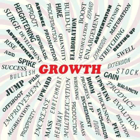 illustration of growth concept  Illustration
