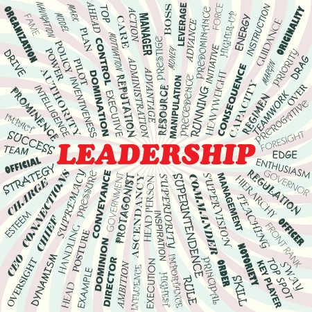 prominence: illustration of leadership concept