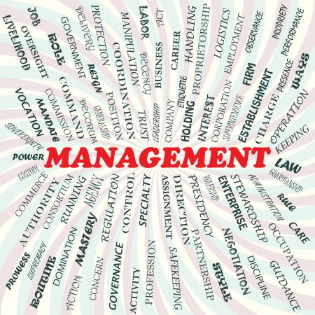 illustration of management concept  Stock Vector - 19130840