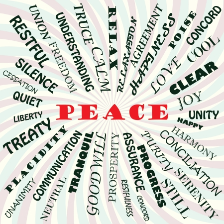 conciliation: illustration of peace concept