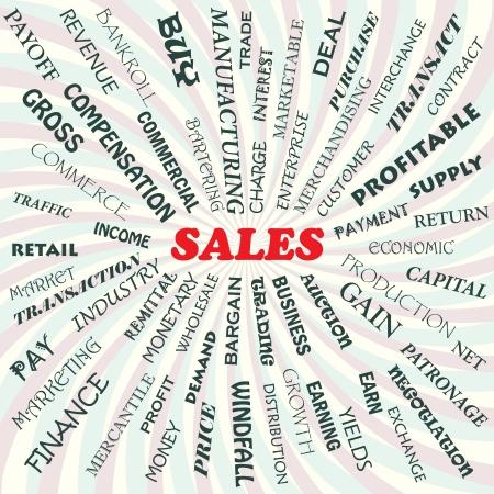 illustration of sales concept  イラスト・ベクター素材