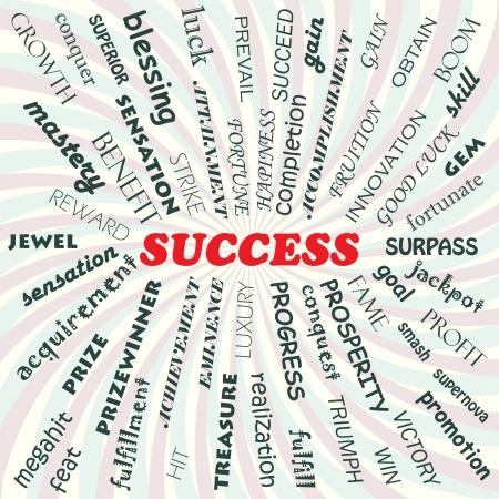 buena suerte: Ilustración del concepto de éxito Vectores