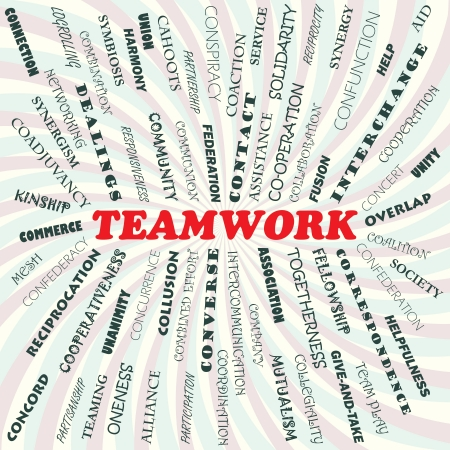 oneness: illustration of teamwork concept  Illustration