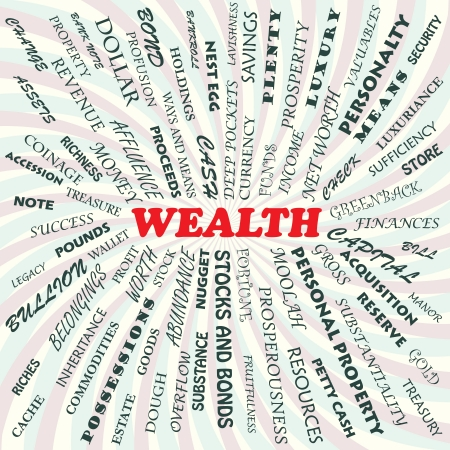 net worth: illustration of wealth concept