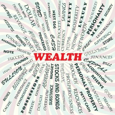 net worth: illustration of wealth concept