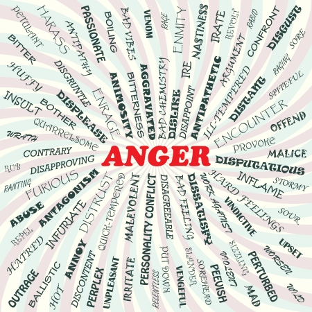 infuriate: illustration of anger concept