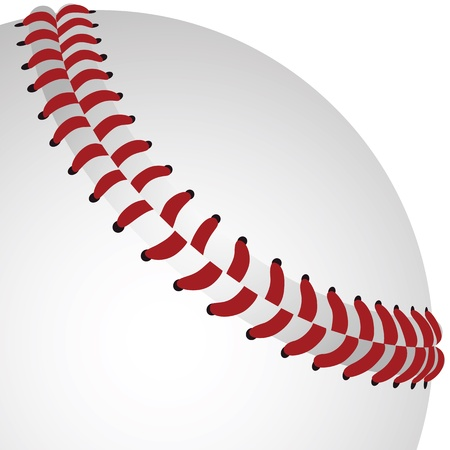 rendition: realistic rendition, illustration of baseball closeup in white background