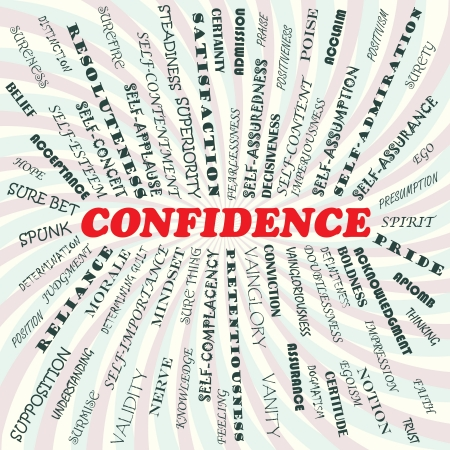 illustration of confidence concept    Vector