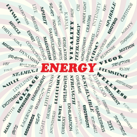alertness: illustration of energy concept