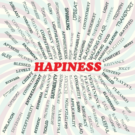hapiness: illustration of hapiness concept