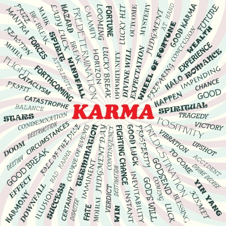 illustration of karma concept    Stock Vector - 19318953
