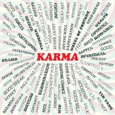 good break: Ilustraci�n del concepto de karma Vectores
