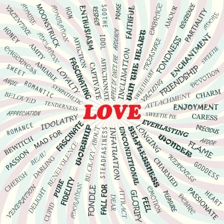 adoration: illustration of love concept