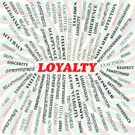 surety: illustration of loyalty concept    Illustration