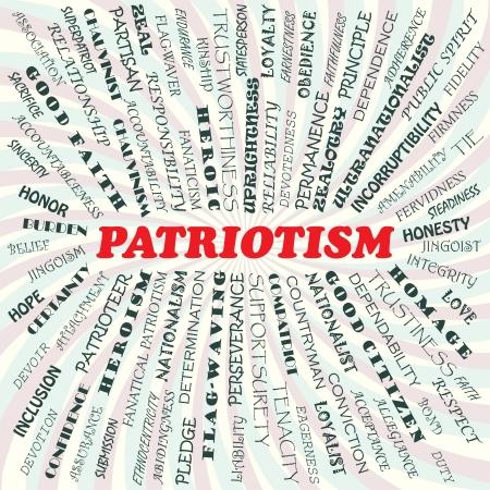 fidelidad: Ilustración del concepto de patriotismo Vectores
