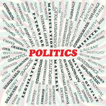 bureaucracy: illustration of politics concept