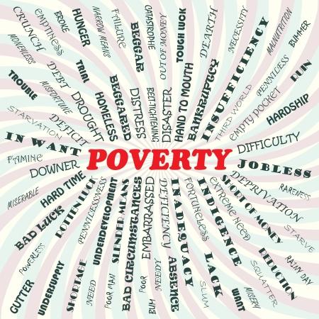 homelessness: illustrazione del concetto di povert� Vettoriali