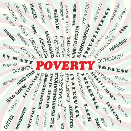 and poverty: Ilustraci�n del concepto de la pobreza