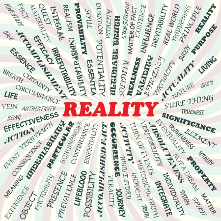inevitability: illustration of reality concept