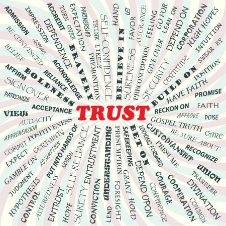 confianza concepto: Ilustraci�n del concepto de confianza