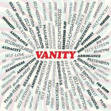 in vain: illustration of vanity concept