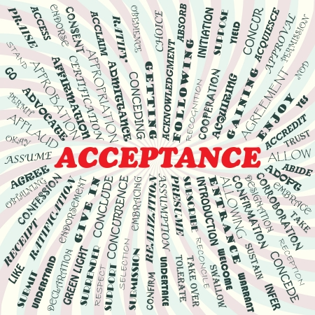 acknowledgment: illustration of acceptance concept