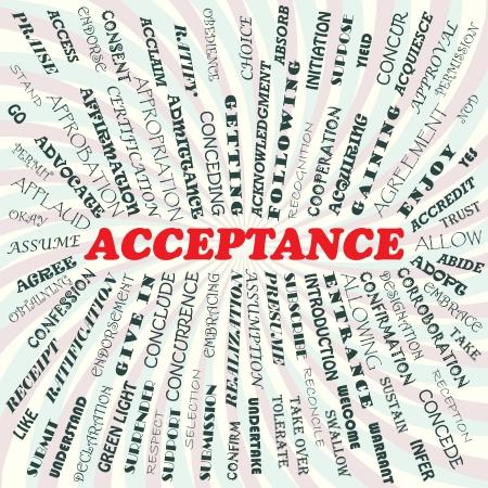 endorse: illustration of acceptance concept