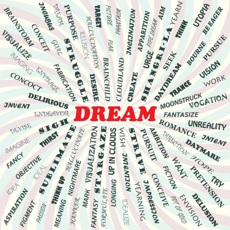 urge: illustration of dream concept