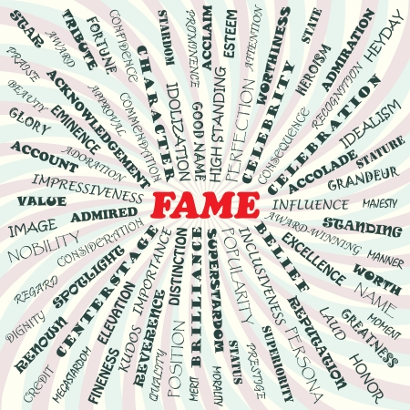 idealism: illustration of fame concept