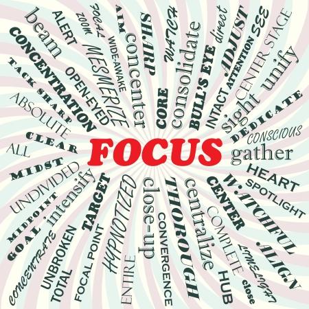 centerstage: illustration of focus concept